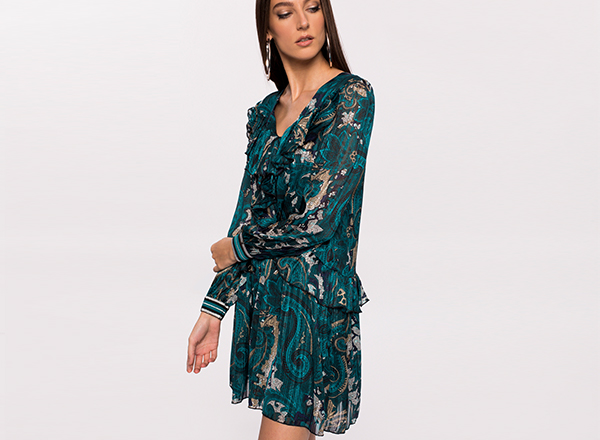 rochie mini plisata Nissa