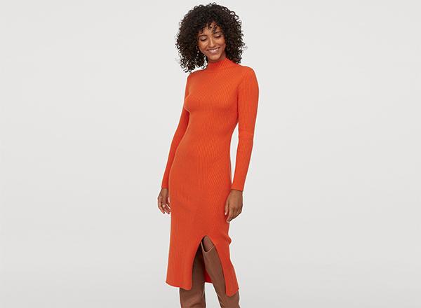 rochie oranj H&M