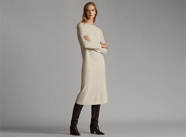 rochie tricotata Massimo Dutti