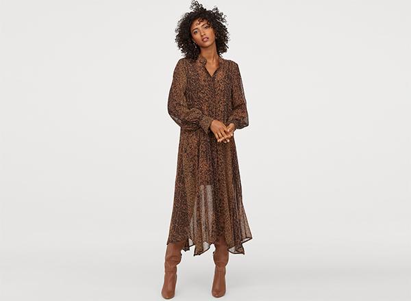 rochie vaporoasa ciocolatie HM
