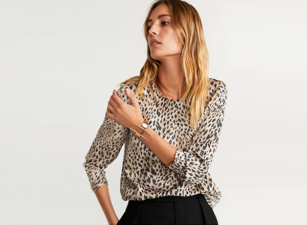 top animal print Mango