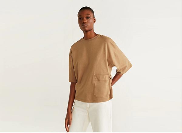 tshirt oversized Mango