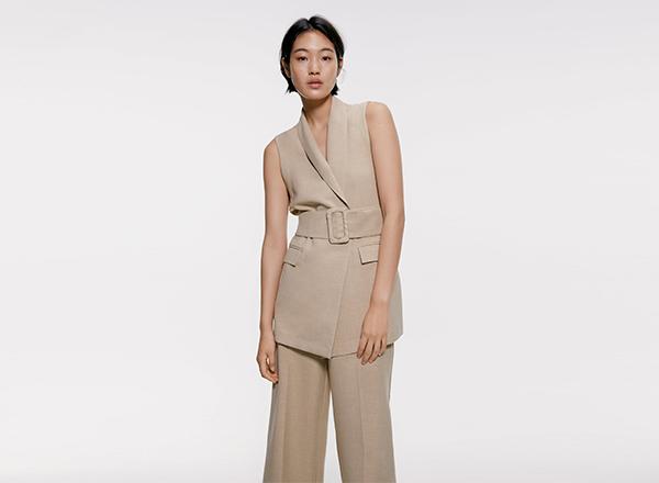 vesta cu cordon Zara