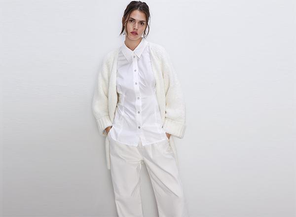 cardigan alb XXL Zara