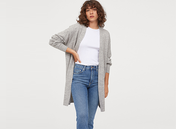 cardigan lung H&M