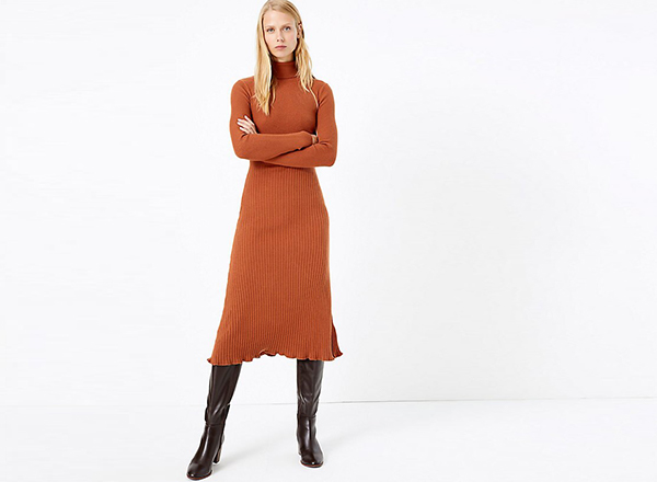 rochie maro caramiziu Marks&Spencer