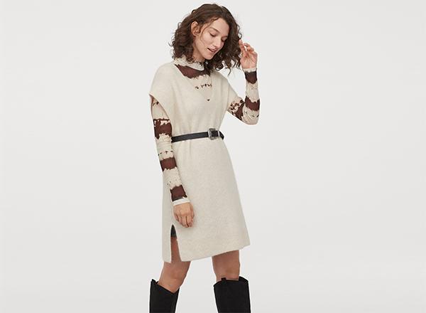 vesta alba din lana H&M