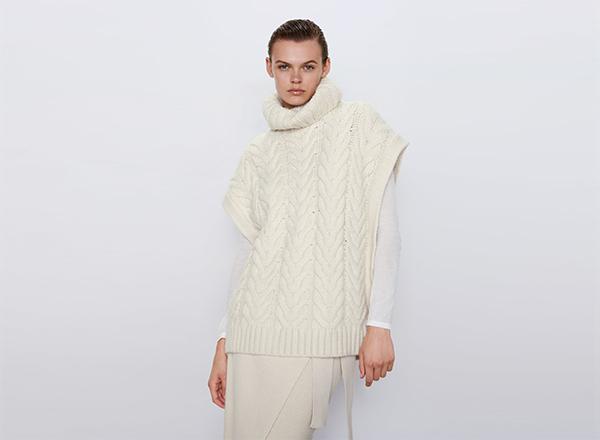 vesta larga cu torsade Zara