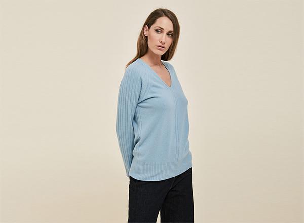 pulover bleu Stefanel