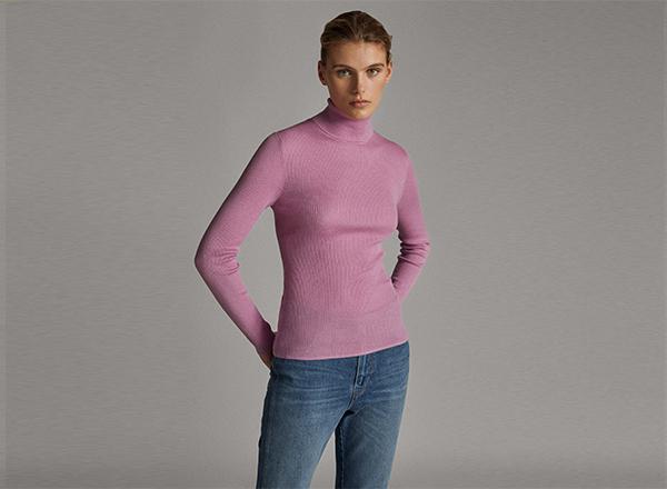 pulover fin roz Massimo Dutti