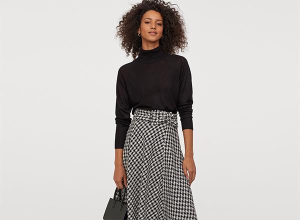 pulover negru fin H&M