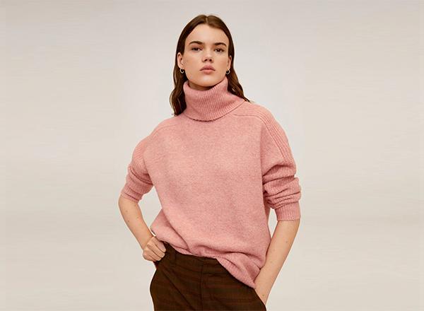 pulover roz piersica Mango