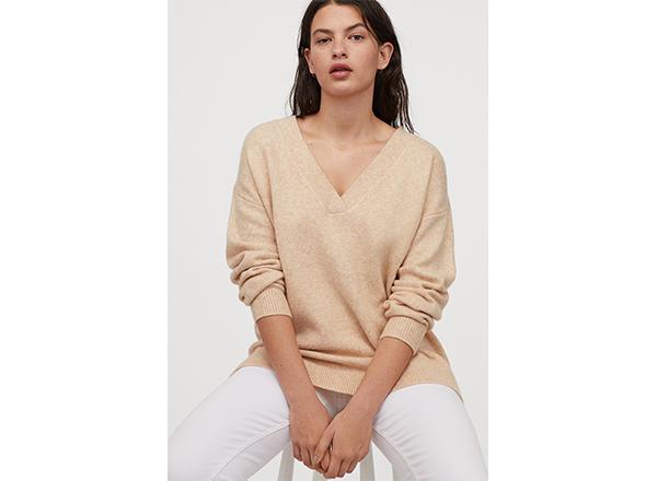 pulover supradimensionat bej H&M