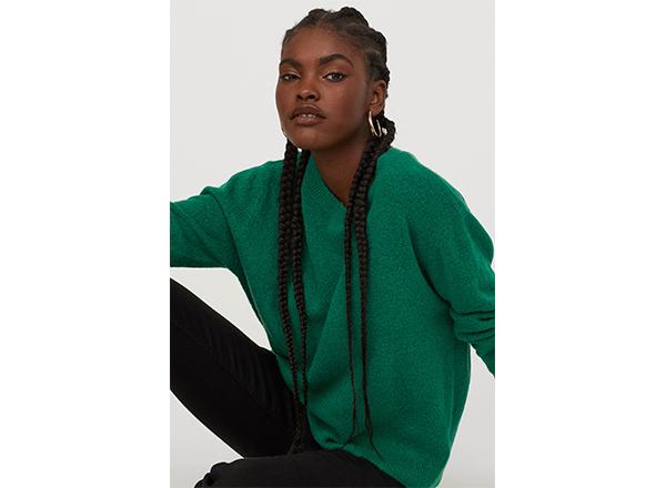 pulover verde smarald H&M