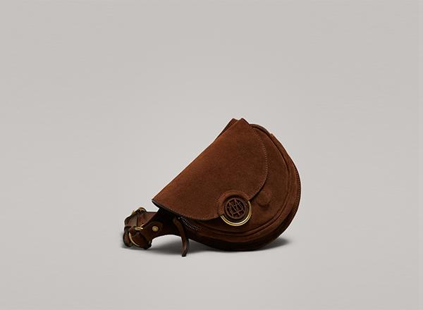 geanta din piele cu banduliera Massimo Dutti