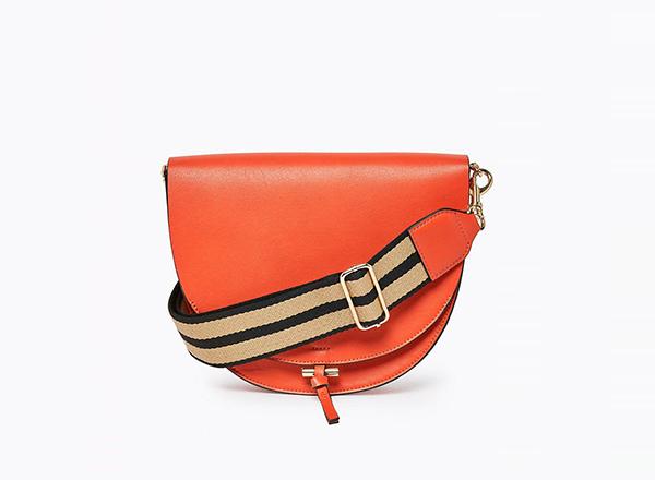 geanta portocalie cu banduliera M&S