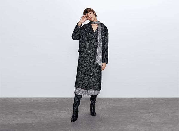 palton gri petrecut Zara