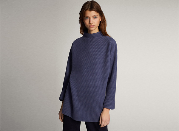 pulover larg din lana si casmir Massimo Dutti