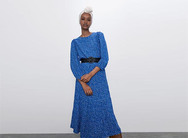 rochie midi imprimata Zara