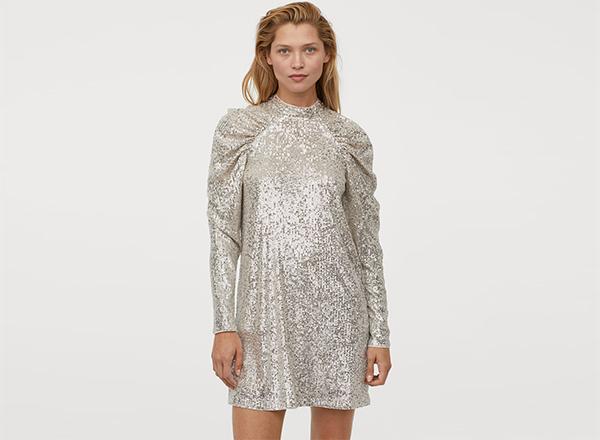 rochie mini din paiete HM