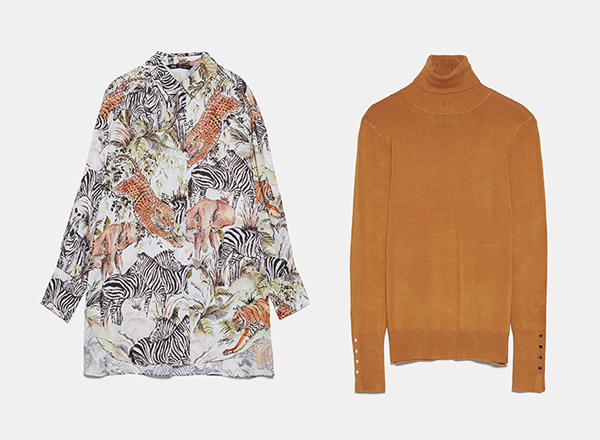 camasa cu tigri si helanca Zara