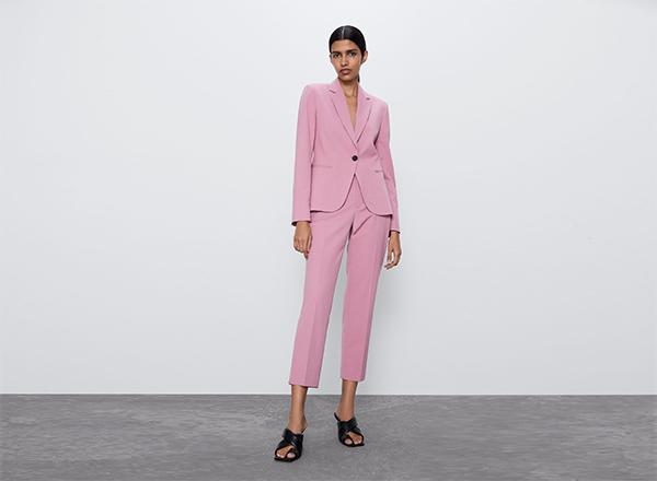 costum roz 2 piese Zara
