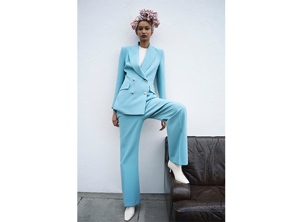 pantaloni evazati bleu Zara