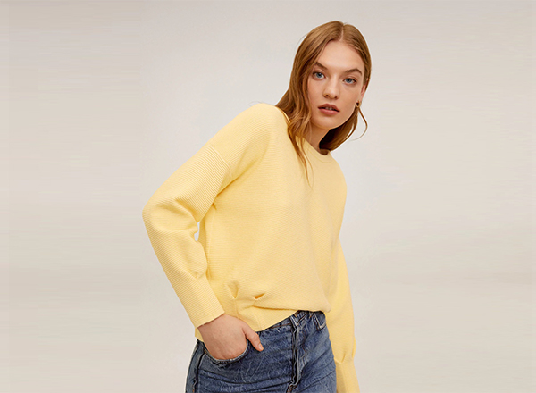 pulover galben Mango