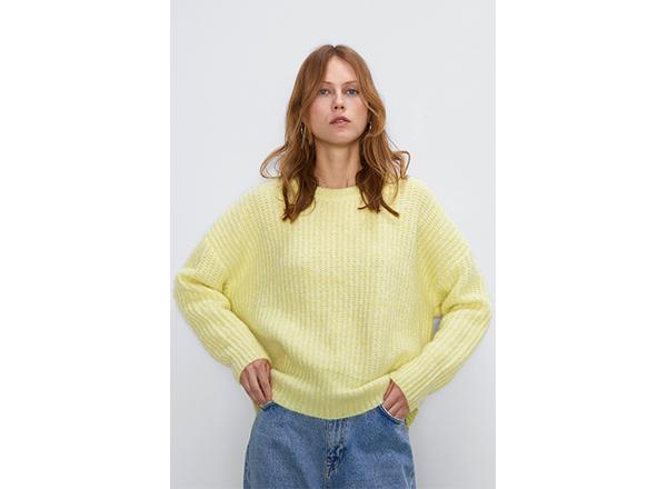 pulover galben pastel Zara