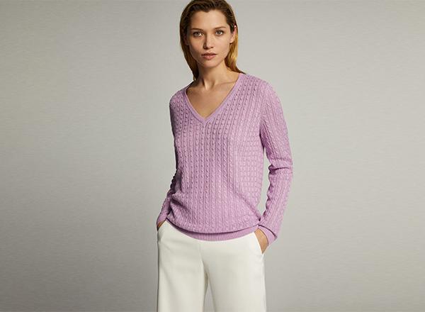 pulover liliachiu Massimo Dutti